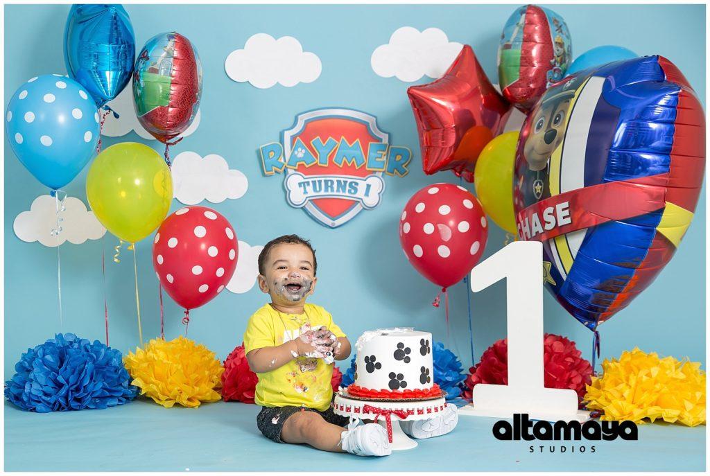 77c3226c5 Cake Smash Paw Patrol - Birthday Baby boy Studio Photo Session ...