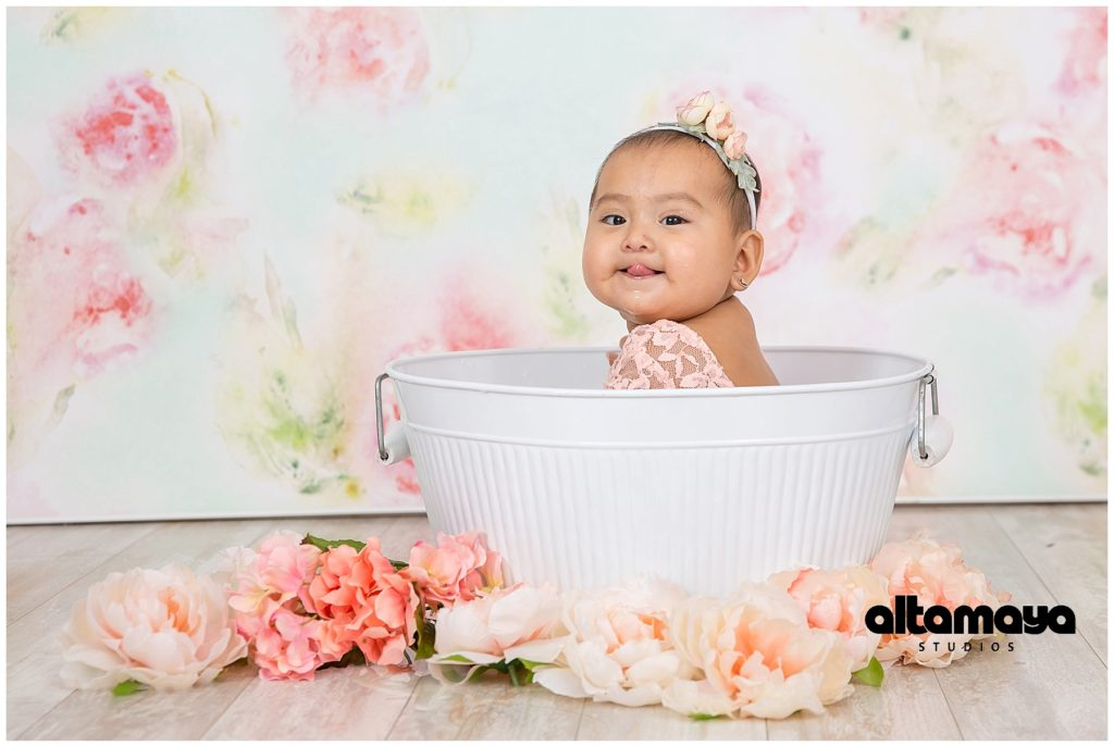 Baby Girl 7 month Old Studio Photo Session- Sitter Photo Session ...