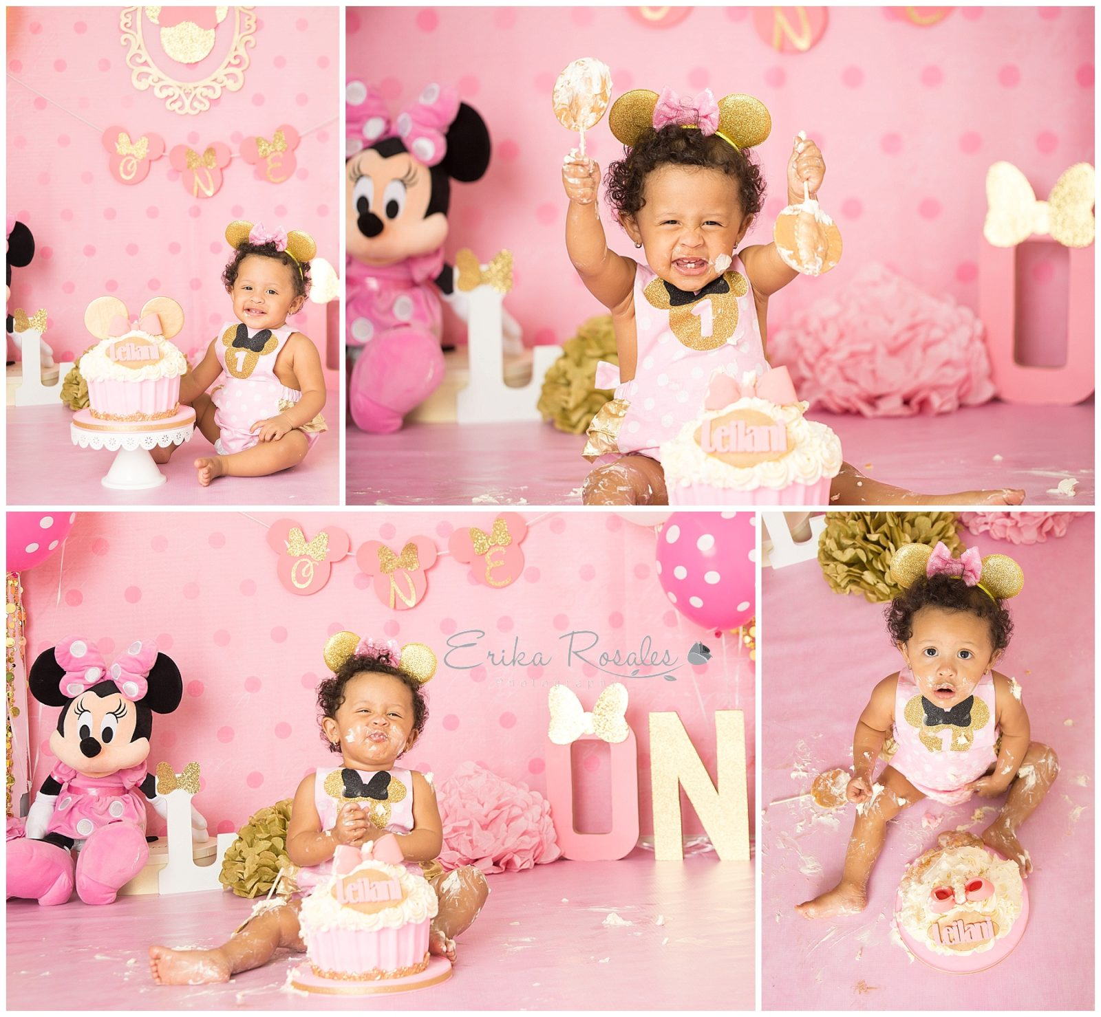 Minnie Mouse Cake Smash Baby Photographer The Bronx
