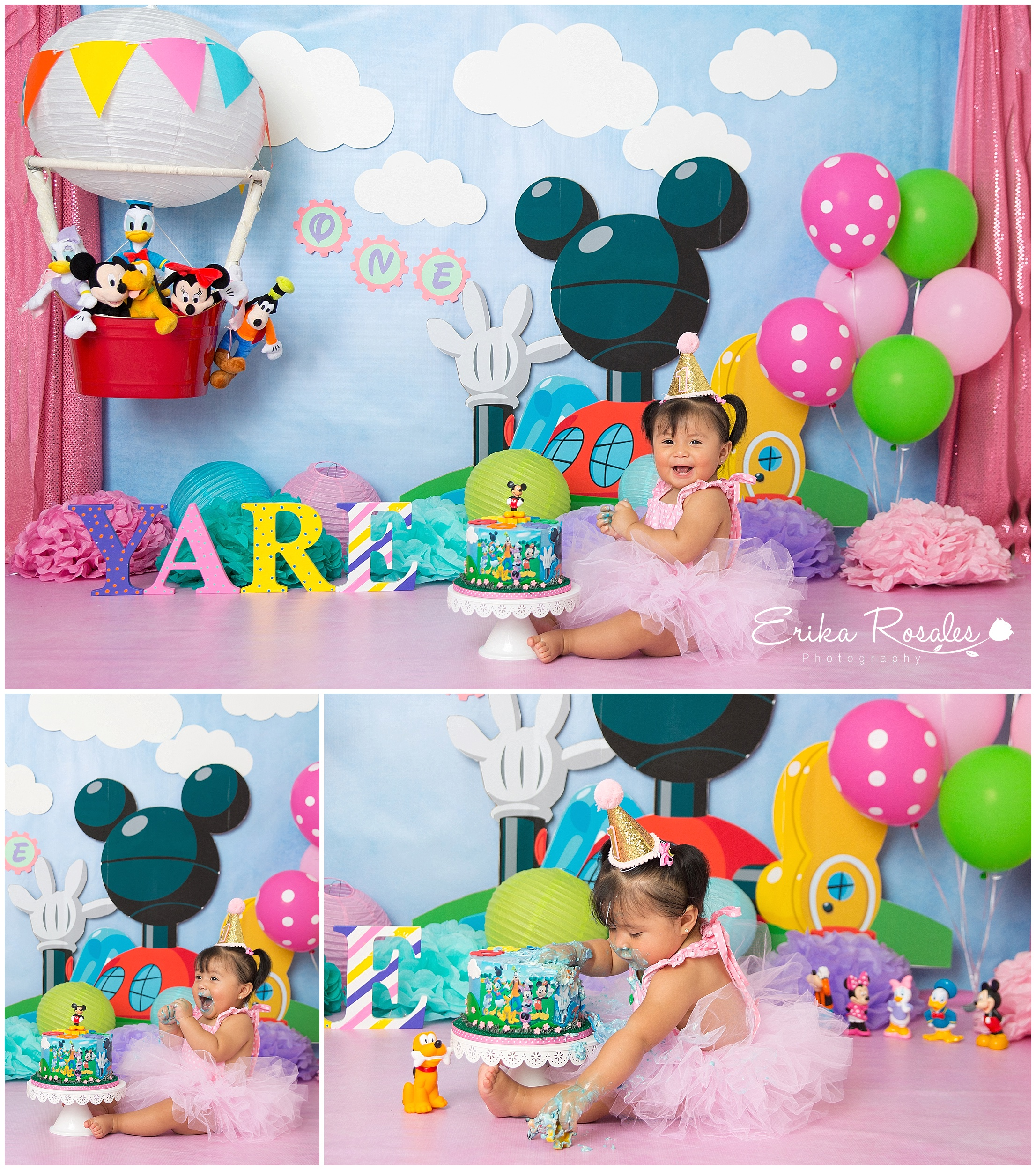 Remarkable Mickey Mouse Clubhouse Smash Cake Baby Photographer The Bronx Personalised Birthday Cards Veneteletsinfo