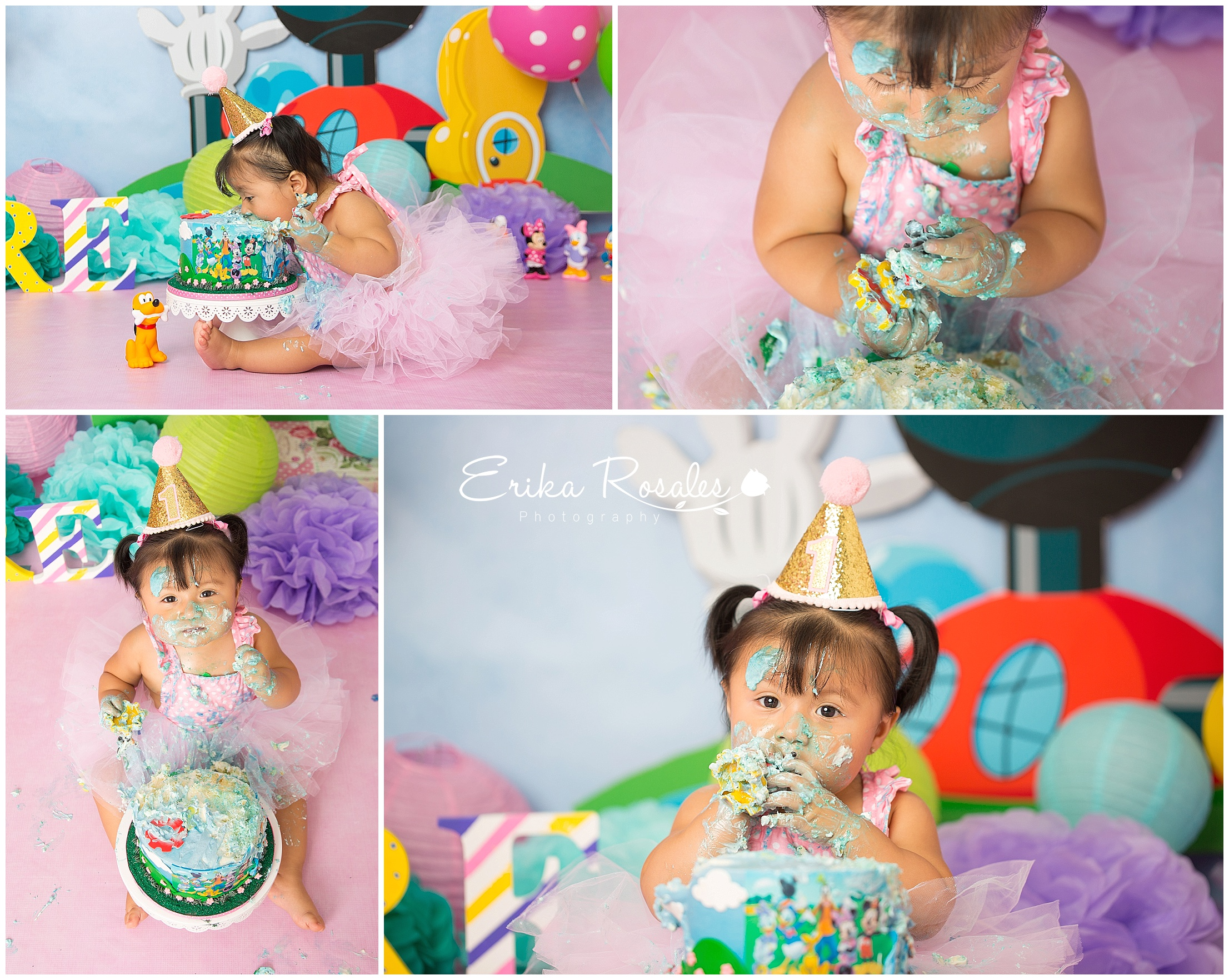 Amazing Mickey Mouse Clubhouse Smash Cake Baby Photographer The Bronx Personalised Birthday Cards Veneteletsinfo