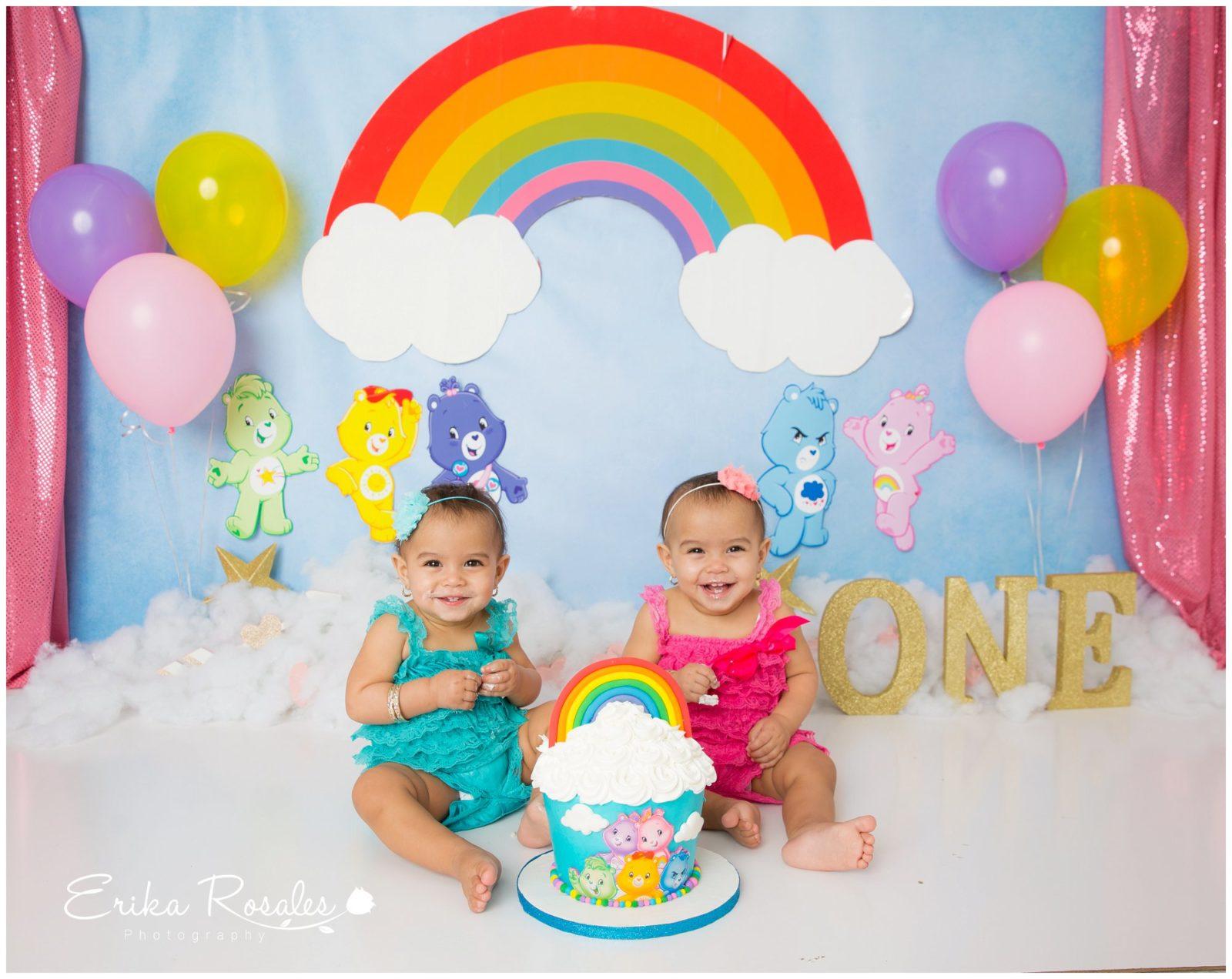 Brilliant Care Bear Cake Smash Baby Photographer The Bronx Studio Erika Funny Birthday Cards Online Alyptdamsfinfo