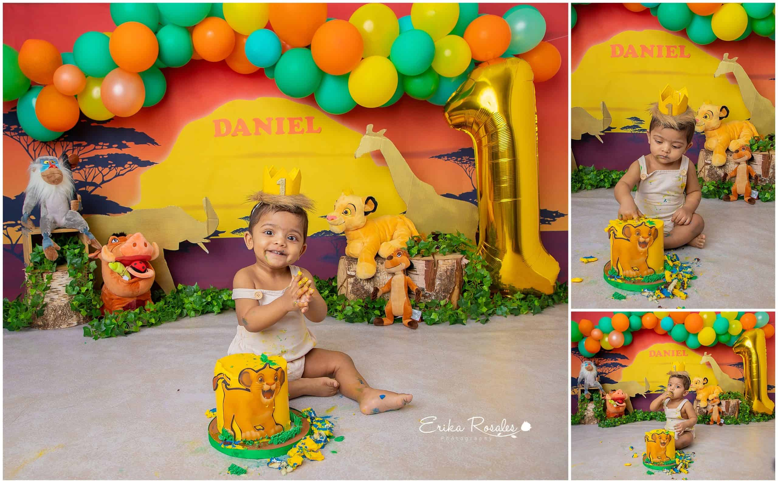 The Lion King First Birthday Cake Smash Archives Erika Rosales New York Photo Studio Family Portrait Studio In Bronx Ny